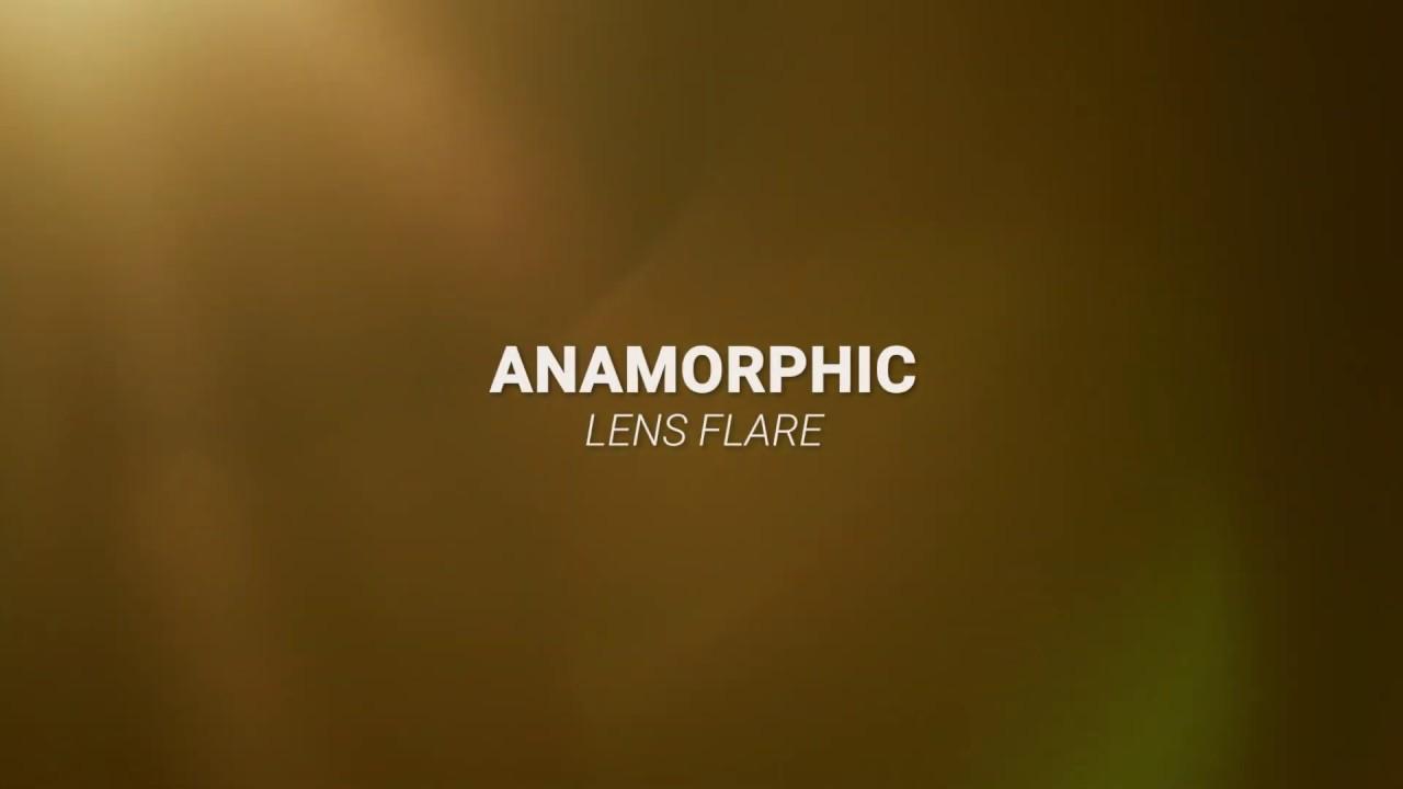 Anamorphic lens Flare Overlay Free