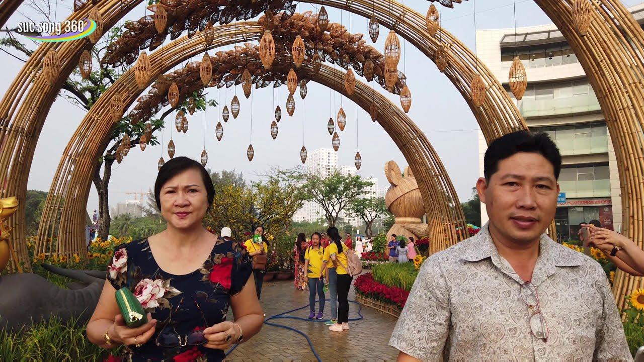 SÀI GÒN #137: Hồ bán nguyệt Phú Mỹ Hưng (Quận 7) tràn ngập sắc hoa tuyệt đẹp dịp tết 2020