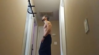 100 FULL R.O.M. PULL-UPS CHEST TO BAR HOME WORKOUT 5 SETS OF 20 REPS -NC/SC PULL-UPS-