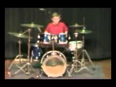 Jacob Duncan 10 year old drummer New Richmond High School Talent Show