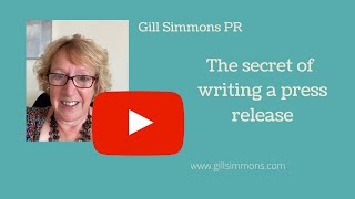 The secret of writing a press release.