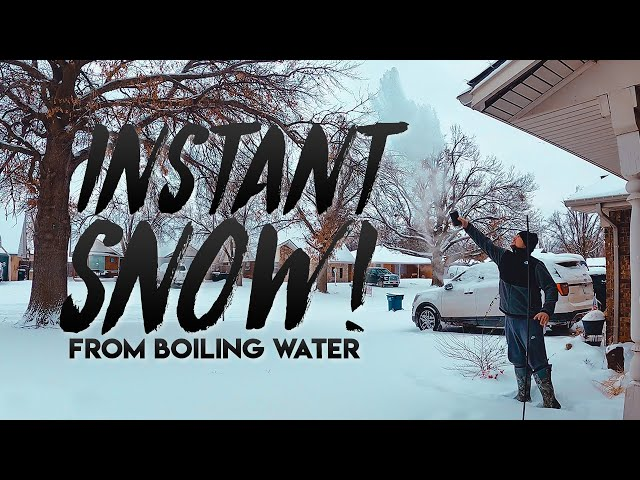 INSTANT SNOW from BOILING WATER! / February 17, 2021