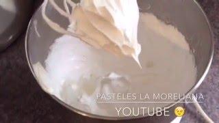 receta basica de merengue suizo facil de preparar