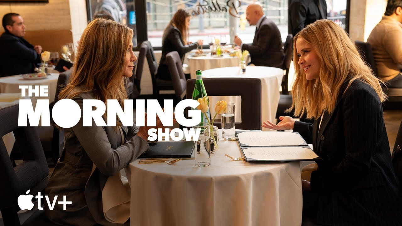 Jennifer Aniston & Reese Witherspoon in The Morning Show S2 trailer in Apple TV Plus België