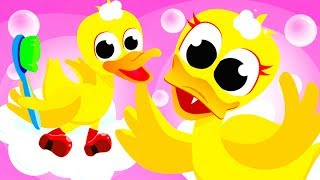Rubber Ducky in The Bath | Where is my Tail? Learn to Count with Pink Bunny | Songs by Little Angel