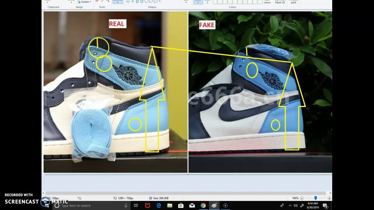 Real Vs Fake Air Jordan 1 Obsidian