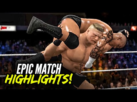 WWE 2K16 Summerslam 2016 Brock Lesnar vs. Randy Orton   Epic Match Highlights!