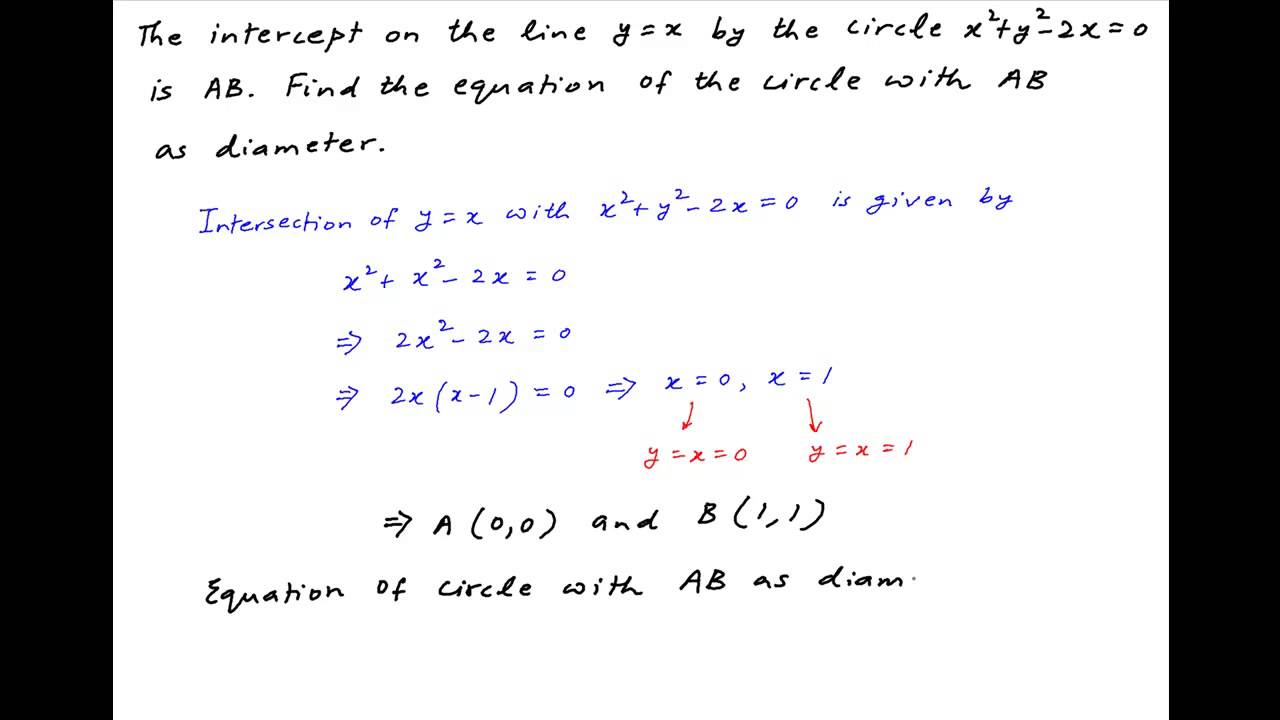 Find the equation of a circle with ab as diameter where a and b find the equation of a circle with ab as diameter where a and b are defined as follows ccuart Image collections