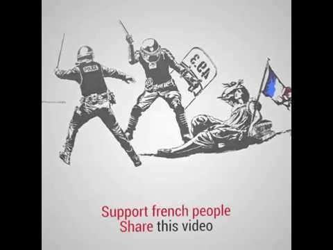"""French government and its labor law """"El Khomri"""" in 1 minute."""