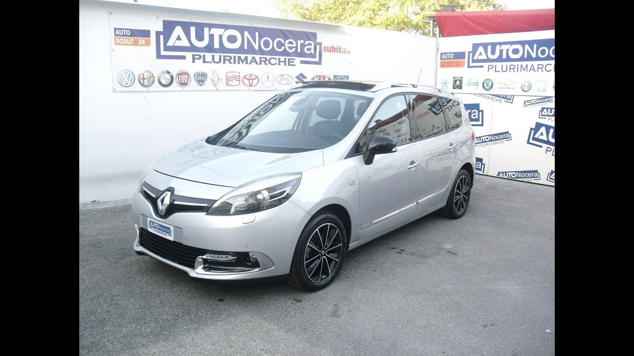 renault grand scenic 7 posti 1 6 130cv bose edition youtube. Black Bedroom Furniture Sets. Home Design Ideas