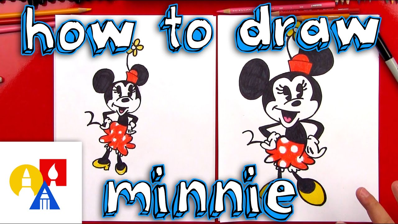 how to draw minnie mouse youtube