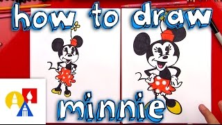 mickey and minnie drawing lesson