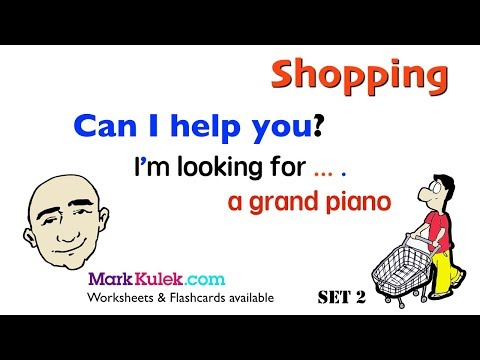 Can I Help You? - I'm Looking For ... : Shopping | English Speaking Practice | ESL