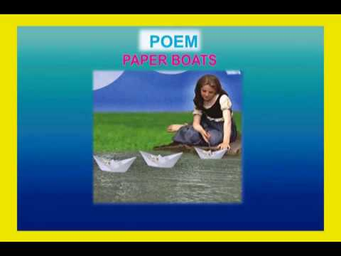 summary of the poem paper boats written by rabindranath tagore