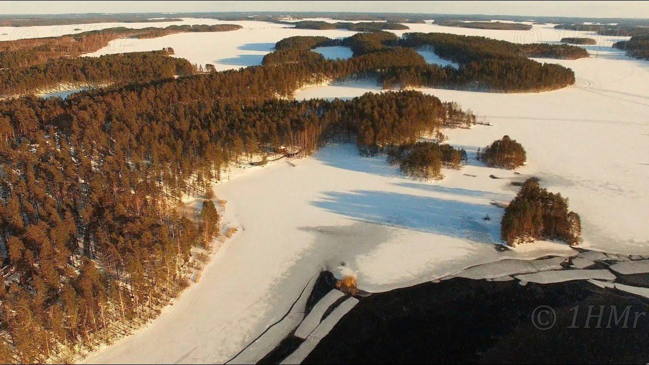 Finland above Punkaharju winter scenery