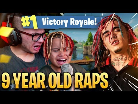 9 YEAR OLD KID RAPS LIKE LIL PUMP ON FORTNITE WTF!