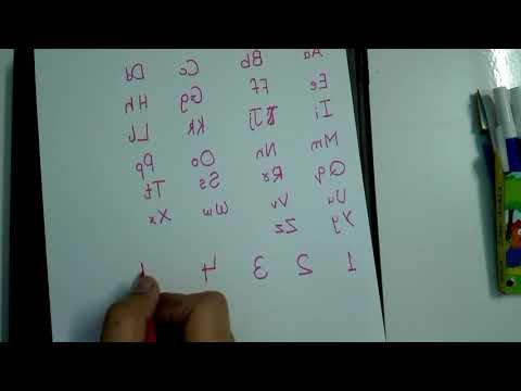 Learn Mirror Writing (EASY)