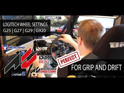 Logitech Wheel Settings | Best Easy Setup Configuration | Assetto Corsa | G25 | G27 | G29 | G920