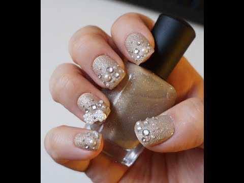 Red Carpet Ready Jeweled Nail Tutorial Youtube