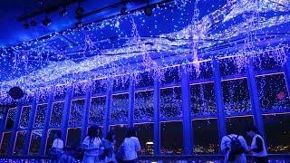 東京都港区の東京タワーで1日、青や白の発光ダイオード(LED)約1...