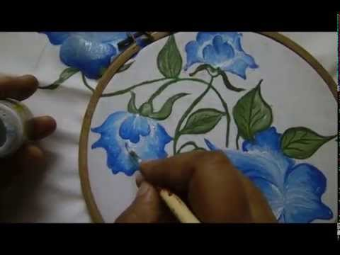 Pillow Cover Design Fabric Painting By Premlata Youtube