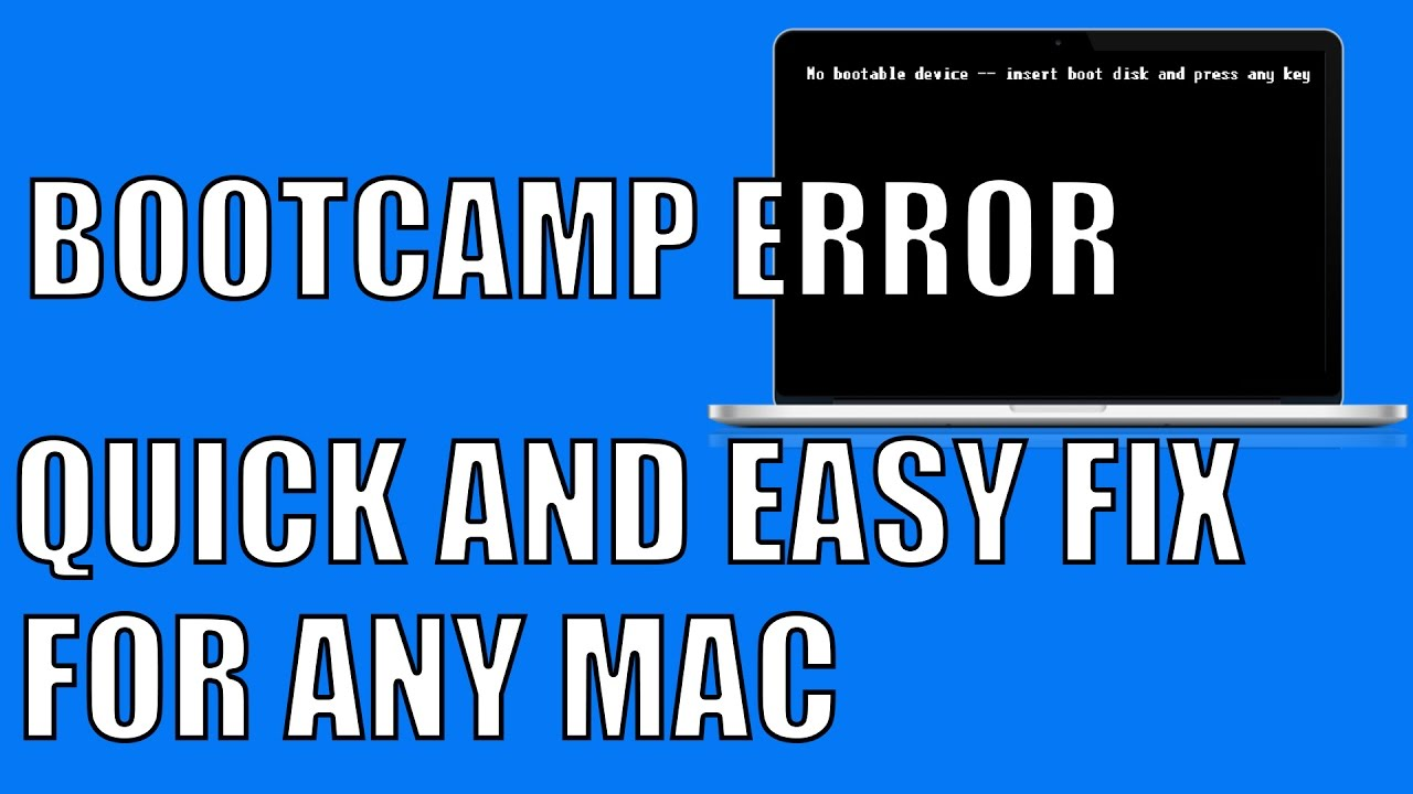 my mac says insert boot disk