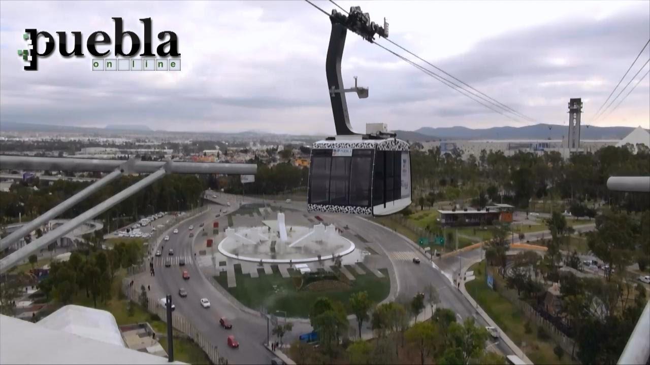 Inauguran el Teleférico de Puebla - YouTube