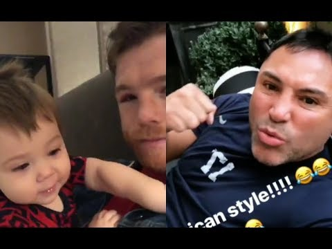 "CANELO W/BABY SHOWS BLACK EYE! OSCAR TO GGG ""BACK TO THE DRAWING BOARD!"""