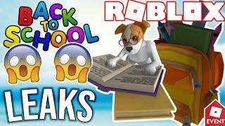 [BONUS-LEAK] ROBLOX BACK TO SCHOOL ITEMS | Leaks and Prediction