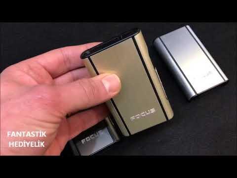 Focus YH006 Sürgülü Şık Pratik Sigara Tabakası Kutusu (4 Renk)