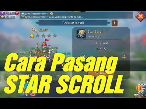 LORDS MOBILE - Cara Pasang Star Scroll