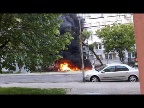 Pożar 19.05 kalisz akcja straży