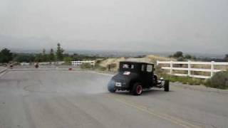 1927 T hot rod spinning here comes the cops!