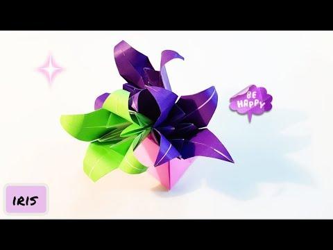 Origami Paper Craft : Iris