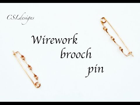 Wirework Brooch Pin