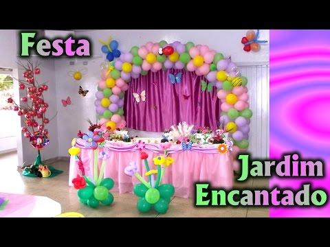 Party Decoration Theme Enchanted Garden - Children's Birthday -  Party Kids
