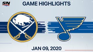 NHL Highlights   Sabres vs. Blues – Jan. 9, 2020