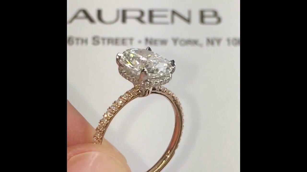 2.50 ct Oval Diamond Engagement Ring + Wedding Band - YouTube