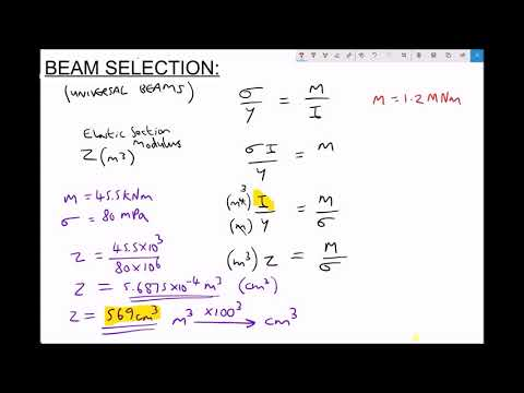 Selecting Universal Beams Using Elastic Section Modulus