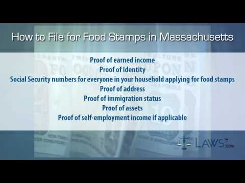 How to File for Food Stamps Massachusetts
