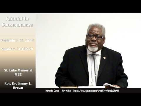 Sunday School Lesson - Faithful In Consequences - 092919 - SLM Teacher's Meeting