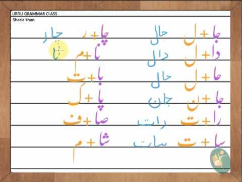 Urdu Series -three and four letter words with letter alif Part 8 ...