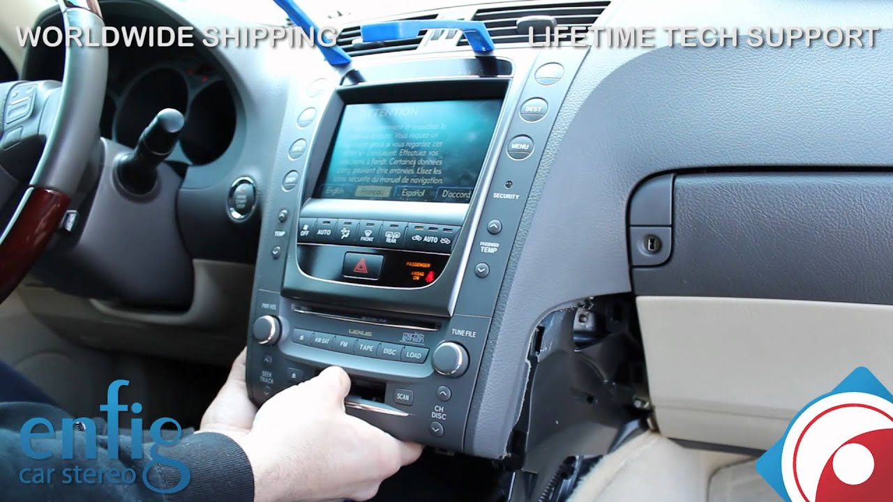 Lexus GS 2007 2008 iPod iPhone aux install and demo - YouTube