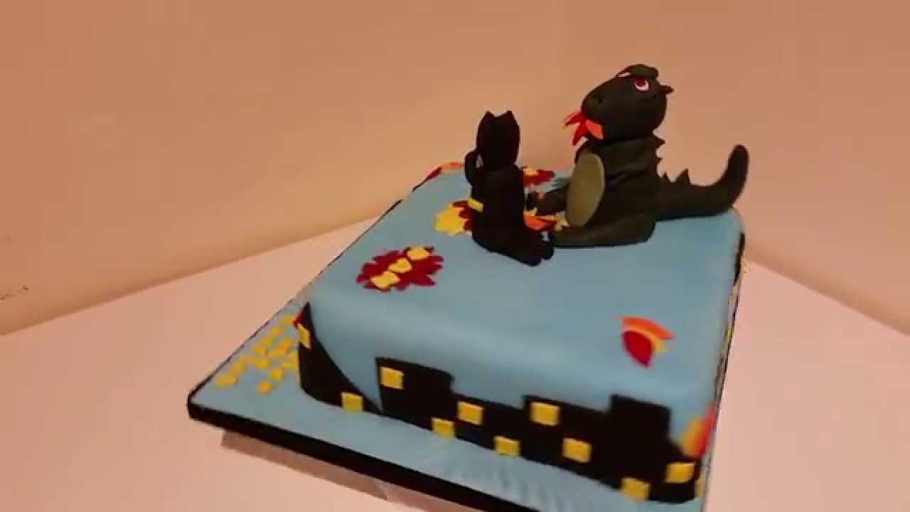 How To Make A Godzilla Birthday Cake