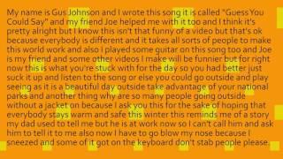 Guess You Could Say - Gus Johnson Original Music