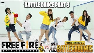 BATTLE DANCE FREE FIRE vs PUBG PART 3 - DJ HANING REMIX - TAKUPAZ DANCE CREW