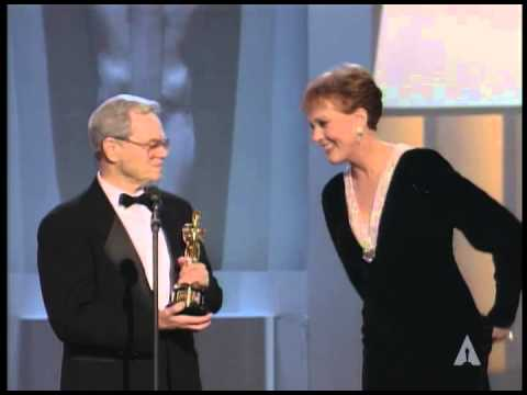 Michael Kidd receiving an Honorary Oscar® from Julie Andrews