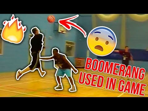 CONMAN HITS DEFENDERS WITH THE BOOMERANG STREETBALL MOVE