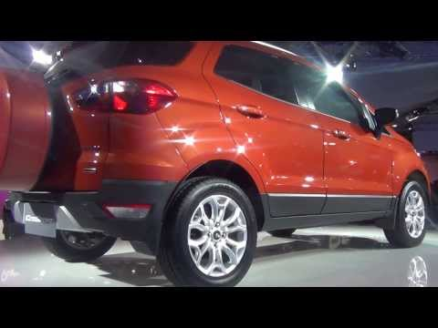 Ford EcoSport Titanium TDCi Duratorq Diesel in Orange at 12th Auto Expo 2014 Greater Noida