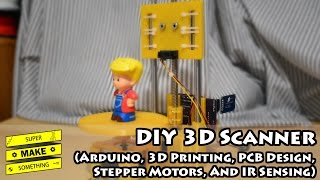 DIY 3D Scanner (Arduino, 3D Printing, PCB Design, Stepper Motors, IR Sensing) - Super Make Something(Learn how to make a 3D scanner to digitize and clone objects around your house! The STL files for the 3D scanner can be found at: ..., 2016-03-14T02:32:24.000Z)